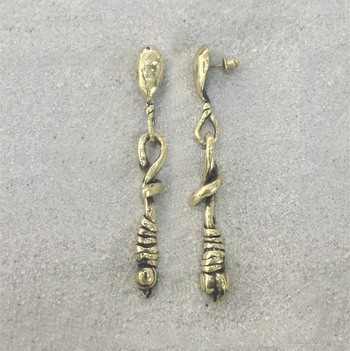BRONZE EARRINGS 4009