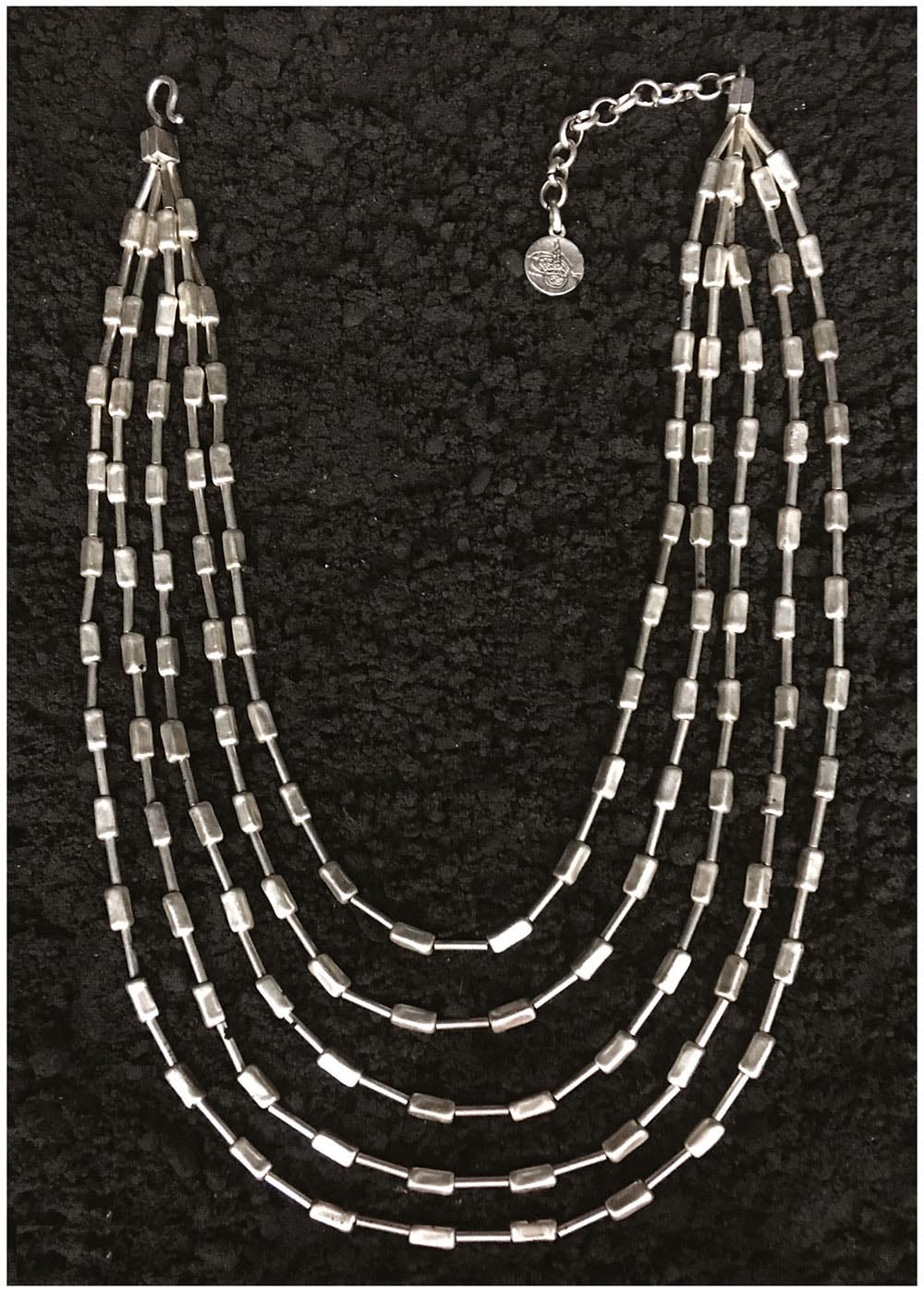 SILVER PLATED NECKLACE G1055