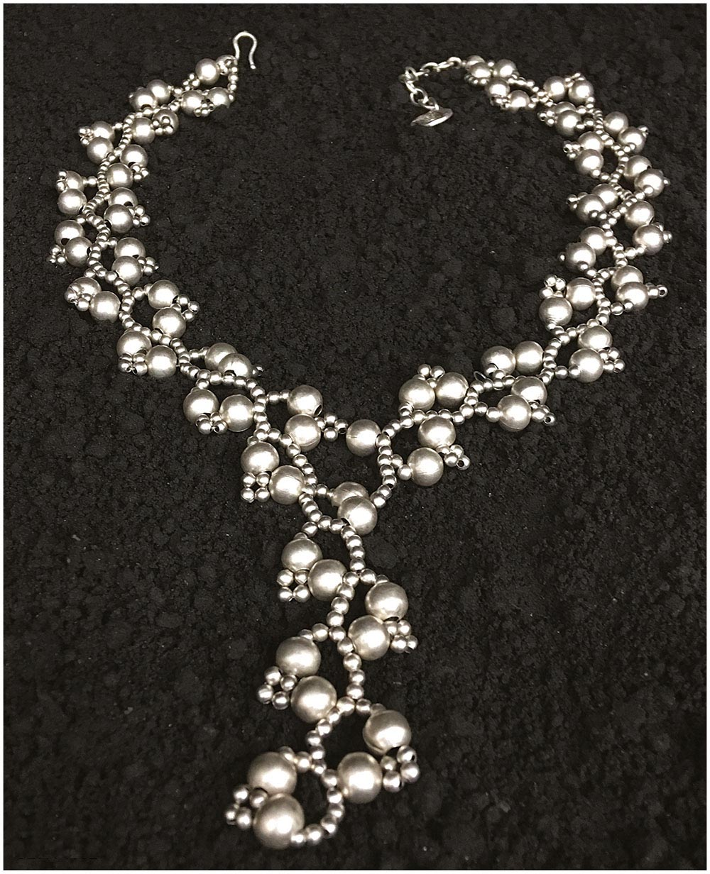 NECKLACE G1082 - SILVER PLATED