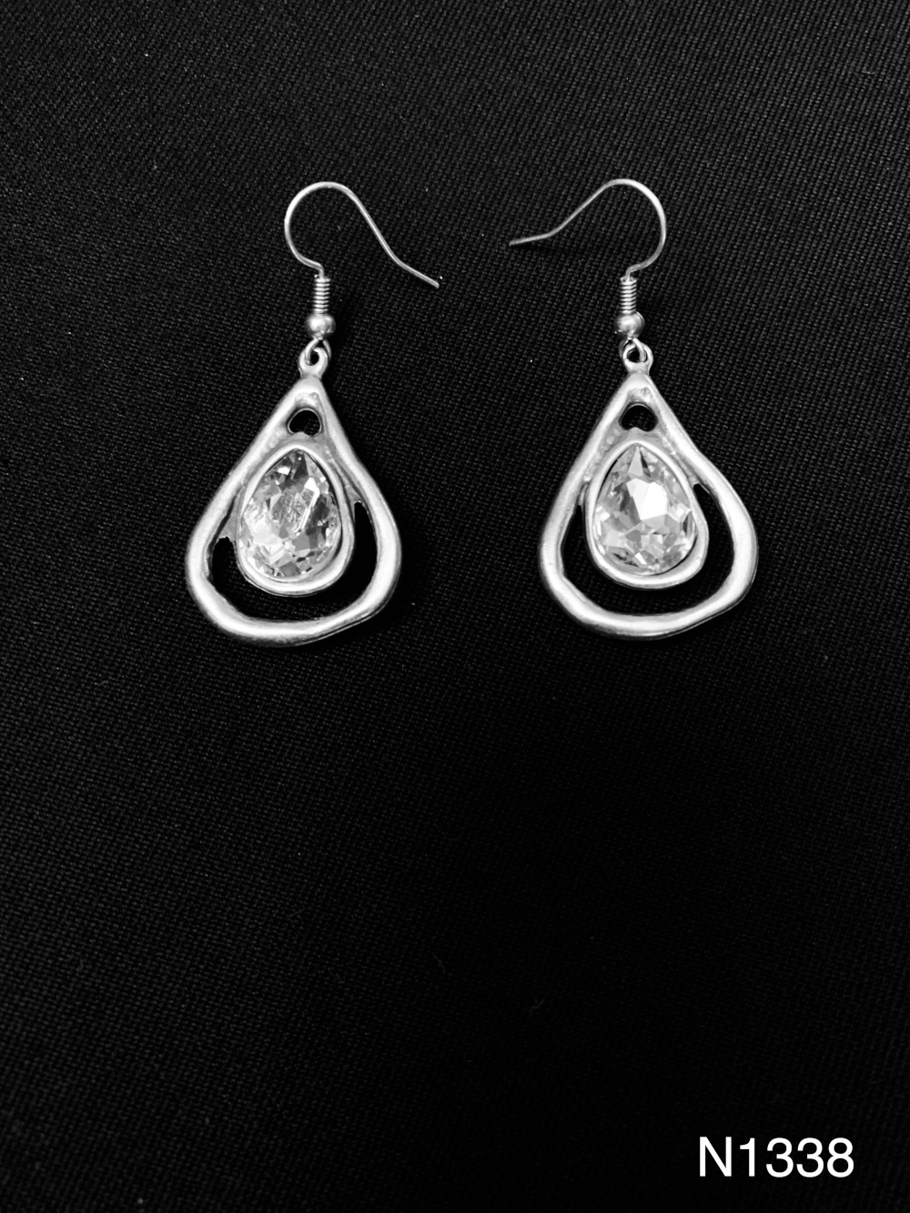GLASS STONE EARRINGS N1338